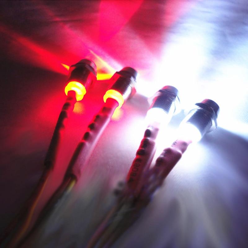 4 LED Lights Kit 2 White 2 Red For 1/10 1/8 HSP Redcat RC4WD Tamiya Axial SCX10 D90 HPI RC Car Light Model Drift Crawler Car