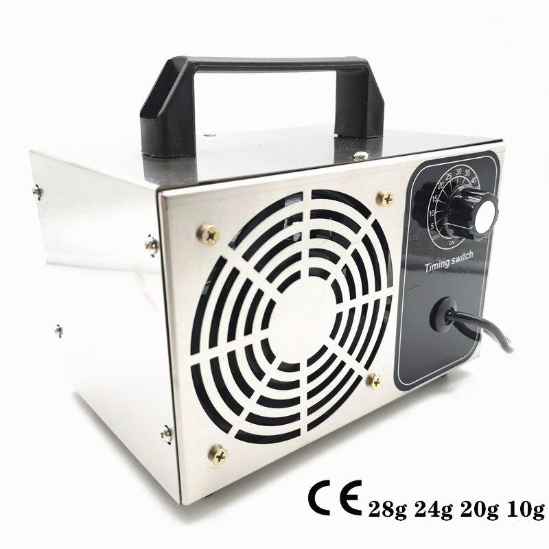 220V 10g 20g 24g 28g/h Ozone Generator Air Purifier Ozonizador Machine O3 Ozono Generator Deodorant Disinfection Equipment