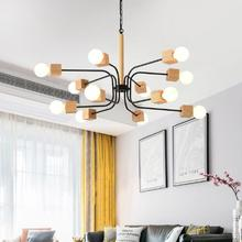 Современный светодиодный светильник для гостиной, деревянные люстры, деревянные люстры, подвесные светильники для столовой, белые Кухонные светильники