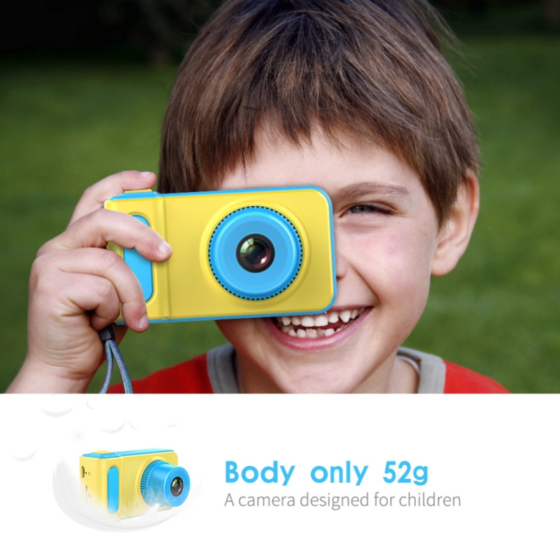 32GB  Kid Camera Toys 2.0 Inch IPS HD Screen Kids Anti-shake Digital Camera For Child Gift Drop