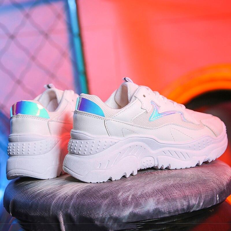 1168.72руб. 37% СКИДКА|Женская обувь; Популярные белые кроссовки; Женская Вулканизированная обувь; Повседневные кроссовки на платформе; Обувь для папы; Basket Femme Krasovki; 2020|Кроссовки и кеды| |  - AliExpress