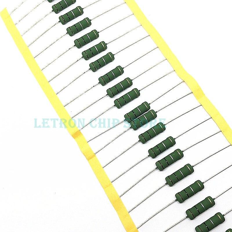 Resistor de energia liso da dissipação de calor do fio 3.3r 4.7r ohm de 10 pces rx21 wirewound resistor 3w 0.1r-1k 0.22r 0.33r 0.47r 1r 1r