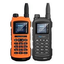 """SENHAIX GP8800 иди и болтай Walkie Talkie """"иди и 5 Вт с радиусом действия 10 км Bluetooth программирования Водонепроницаемый VHF Любительская рация двойного ди..."""