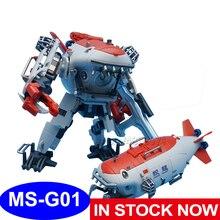 MFT zabawki figurki akcji MS G01 7062 Jiaolong głębinowa załoga zatapialna chińska duma Submarine Model transformacja deformacji