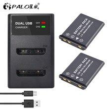 PALO – batterie pour appareil photo numérique, 3.7V, 1800mAh, Li-40B Li-ion, LCD, USB, double chargeur, pour appareil Li-40B Li 40B Li-42B Li 42B EN EL10 EN-EL10