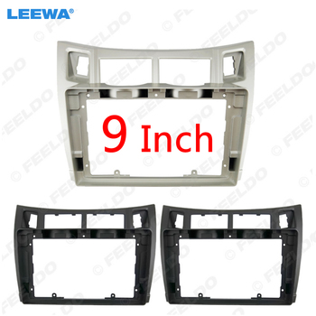 LEEWA Car Audio Fascia Frame Adapter For Toyota Yaris 9 Big Screen CD/DVD Player 2Din Dash Fitting Panel Frame Kit #CA2373 image