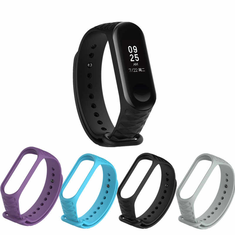 1 PCS Silicone Watch Replacement Rubber Watch Bracelet Band Wrist Strap Loop For Xiaomi Mi Band 3 Professional Watch Buckle