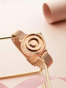 Eutour Women's Watch Quartz Temperament Stainless-Steel Gold-Trend Magnetic Female Black