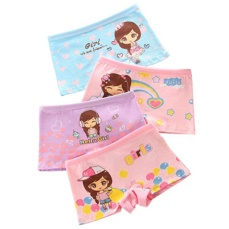 4Pcs/Lot Cartoon Underpants Baby Boxer Kids Underwear Cotton Panties Calcinhas Infantis 2-10Y 1