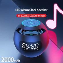 Mini altavoz altavoz alto-falantes música sonos mini altavoz alto-falantes bluetooth portátil despertador caixa de som amplificada led rádio fm