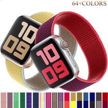 Nylon Strap For Apple watch band 40mm 44mm iwatch band 38mm 42mm Sport Loop bracelet belt correa for apple watch SE 1 2 3 4 5 6