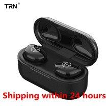 TRN auriculares T200 inalámbricos por Bluetooth 5,0, Mini auriculares ipx5 HIFI deportivos intrauditivos O5 X1E X1 O2 E12 MTW100 I8