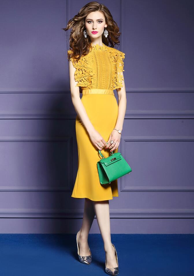 Noir jaune vif OL haute qualité mince robes De soirée Vestido De Festa robe en dentelle 2019 robe De bal élégant robe formelle
