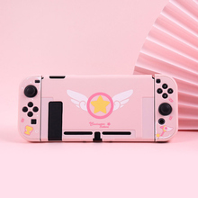 Girly Pink Protective Case For Nintendo Switch Full Controller Shell Hard Cover NS Game Case Box For Nintendo Switch Accessories