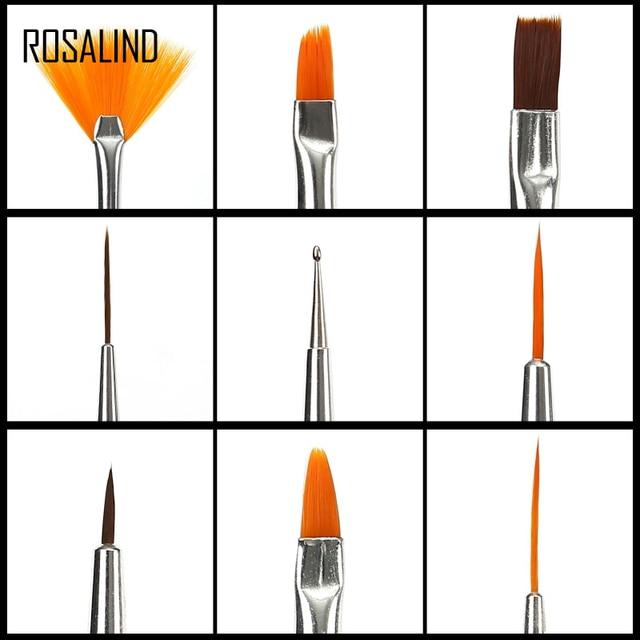 ROSALIND Nail Brushes Set for Manicure DIY Tool Set 3D Gel Acrylic Brushes Liner Pen Nail Art Brush For Nails Design 1
