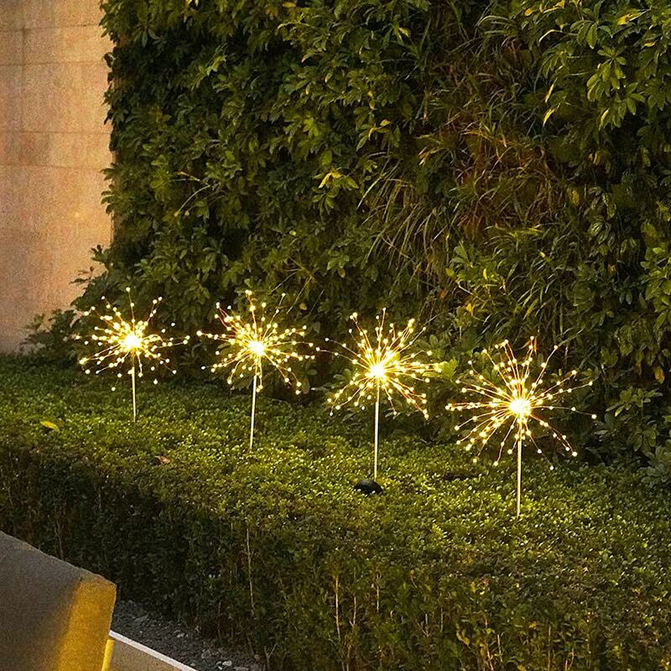 LED Solar Firework Lights 90/150 LEDs 2 Modes Waterproof DIY Flash String  lights For Outdoor Garden Patio Christmas Decorative|Solar Lamps| -  AliExpress