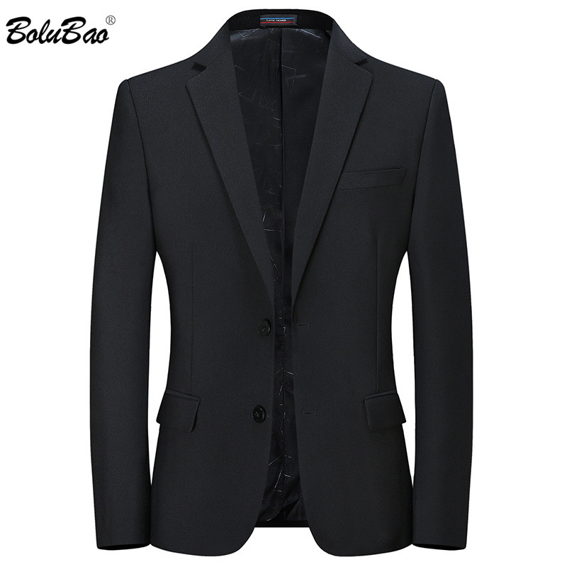 BOLUBAO Brand Men Blazers Spring New Men's High Quality Single Breasted Business Suit Slim Fit Black Casual Blazers Male
