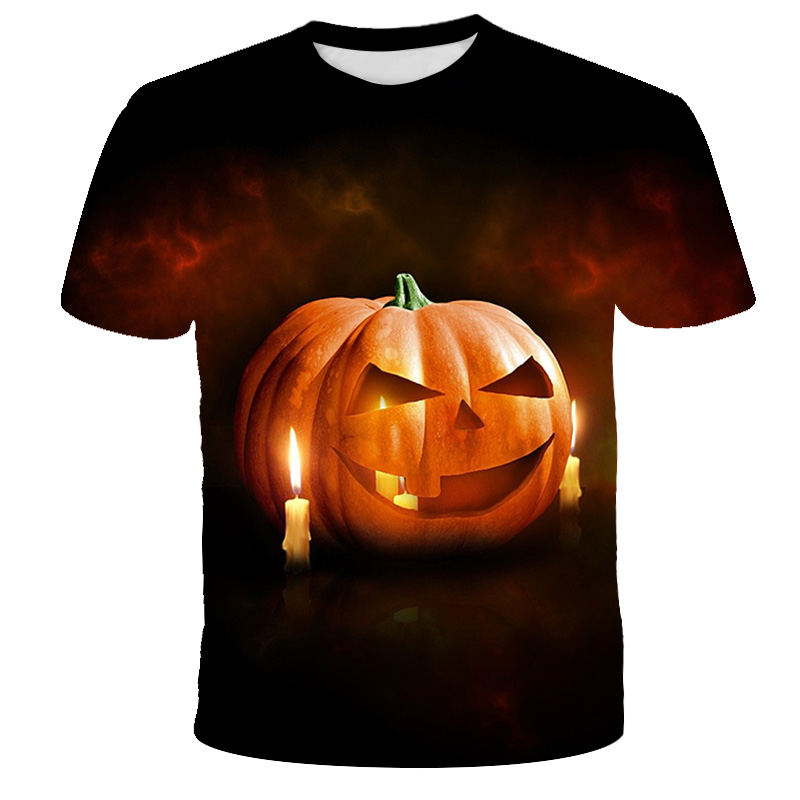 Halloween Pumpkin Kids Boys Short Sleeve T-Shirt
