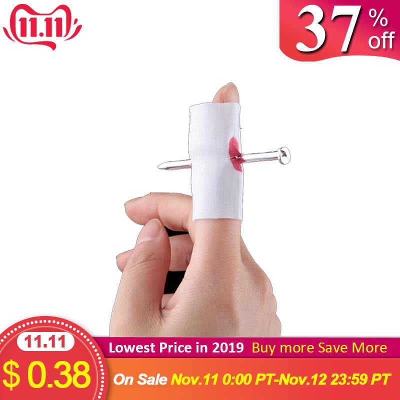 2 uds. De Halloween nuevo juguete de broma de uñas falsas a través de los dedos broma graciosa novedad de broma para niños