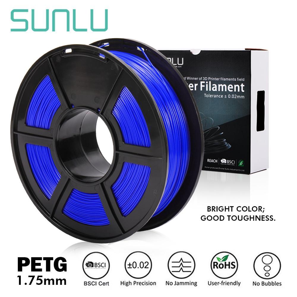 SUNLU 1.75MM PETG BLUE 3D Printer Filament 1.75mm 1KG(2.2lb)  Dimensional Accuracy +/- 0.02 Mm