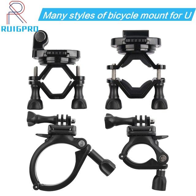 Draaibaar Bike Fietsstuur Mount Houder Adapter Motorbike Clip Ondersteuning Beugel Voor Gopro Hero 9 8 7 6 5 4 3 + 3 Sjcam