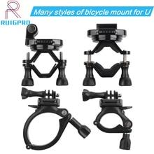 Rotatable bicicleta guiador montar titular adaptador de moto clipe suporte para gopro hero 9 8 7 6 5 4 3 + 3 sjcam
