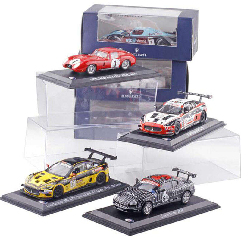 1:43 Scale Metal Alloy Classic Maseratis Racing Rally <font><b>Car</b></font> <font><b>Model</b></font> <font><b>Diecast</b></font> Vehicles Toys For Collection Display For Kids Gifts image
