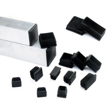 120pcs Black Plastic Blanking End Caps Rectangular Pipe Tube Cap Insert Plugs Bung For Furniture Tables Chairs Protector - discount item  5% OFF Furniture Accessories