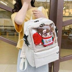 Sac à dos sac d'école clair enfants sacs adolescent noir mode ordinateur portable femmes sacs à dos fille Transparent pour les filles femme