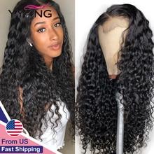 YYong 1x6 Topline Lace и 4x4 малазийский парик на сетке с водной волной предварительно выщипанный с детскими волосами Remy HD прозрачный парик из человеческих волос
