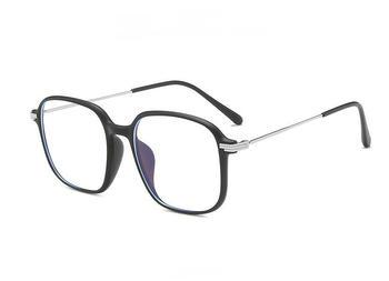 2021 okulary ramka kwadratowe oczka ramki okularów dla kobiet mężczyzn metalowa rama okulary dla osób z krótkowzrocznością ramki okularów okulary blokujące niebieskie światło okulary komputerowe tanie i dobre opinie CN (pochodzenie) Z poliwęglanu Unisex NONE 200018 00mm ALLOY