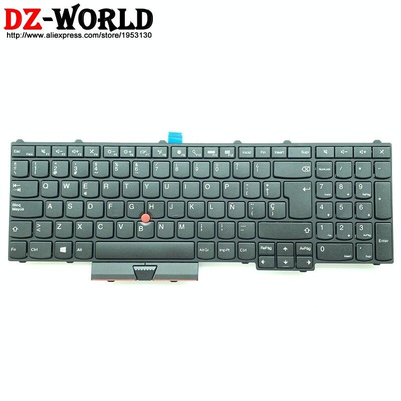 New Original LAS ES Spanish Laptop Keyboard For Lenovo Thinkpad P50 P70 Teclado 00PA339 SN20H35166 00PA257