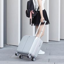 Korean Style Trolley Suitcase For Men Women Boarding 18 inch Password Suitcase Light Portable Universal Wheel Travel Luggage