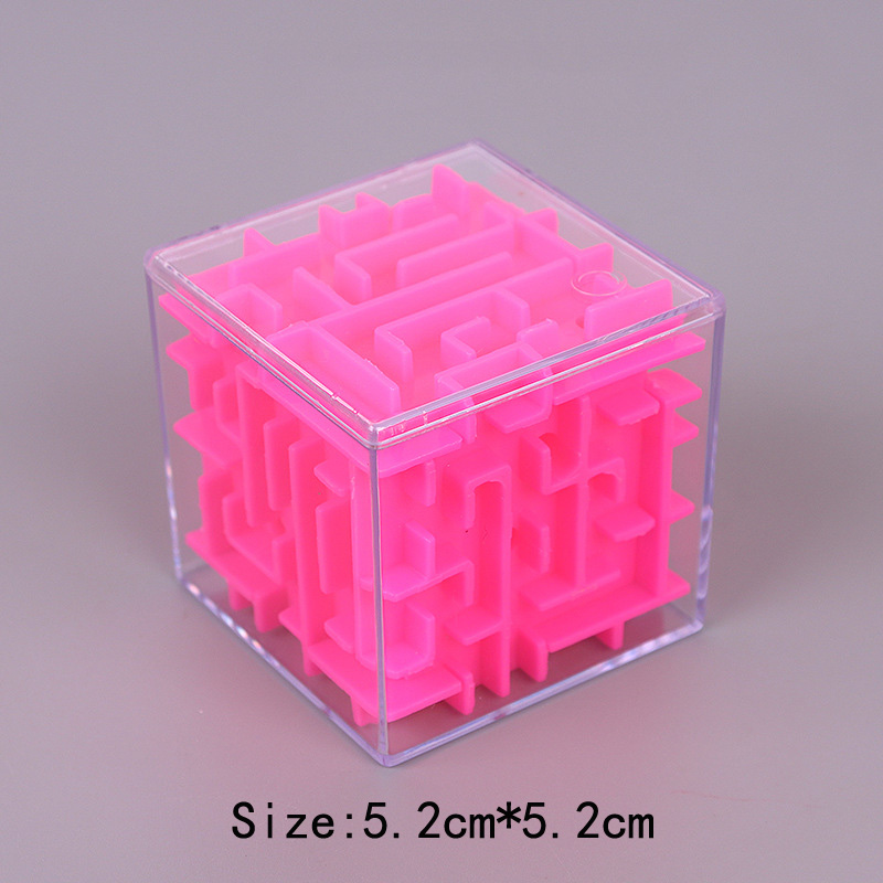 TOBEFU 3D Maze Magic Cube Transparent Six-sided Puzzle Speed Cube Rolling Ball Game Cubos Maze Toys for Children Educational 11