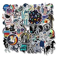 50 шт. космическая наклейка UFO Alien компьютерная наклейка s космонавты и ракеты мультфильм DIY для ноутбука холодильник для MacBook Наклейка