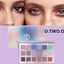 O.TWO.O New 18-color Aurora Borealis Eyeshadow Matte Pearlescent Eye shadow Colorful Waterproof Lasting Makeup Easy to Blend
