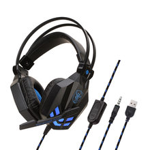 Soyto/shuo yu through SY850MV Headphones E-Sports Game Shining Headset Laptop PS4 Only(China)