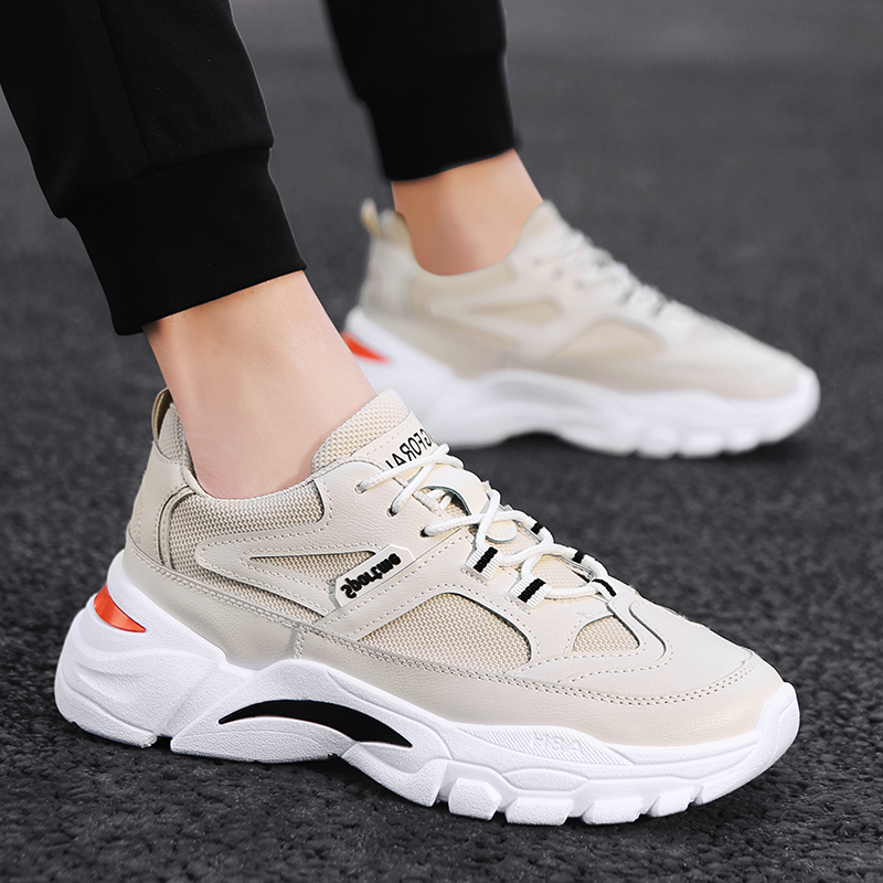 Fashion Men's Hong Kong Style Sneakers Tide Street Shooting Thick-soled Sneakers Net Red Super Fire Men's Sports Casual Shoes