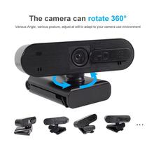 TWISTER.CK 5 Million Pixels HD 1080P Webcam Built-in Microphone Auto Focus Web Camera Support Video Conferencing Software
