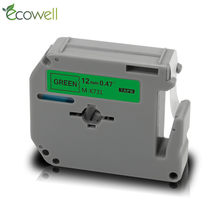 Ecowell 12mm M-K731 Label tape MK 731 Black on Green compatible for Brother P-touch label printer PT-100 PT-110 PT-85 for MK-731(China)