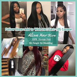 Image 5 - Malaysian Straight Hair Bundles With Frontal Allove Human Hair 3 Bundles With Closure 13X4 Lace Frontal With Bundles Non Remy