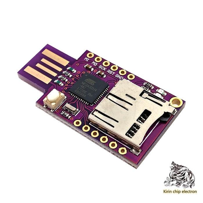 2PCS/LOT Virtual Keyboard BAD USB USB TF Memory KEYBOARD ATMEGA32U4
