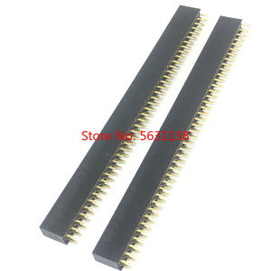10 pcs 40P 2*40pin Female Double Row Straight Pin Pitch 2.54mm 2X40P Needle Header Strip Socket Connector wire connector wago(China)