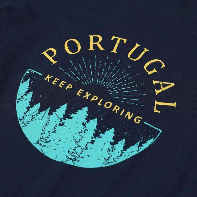 O-neck summer T-Shirt with Portugal print