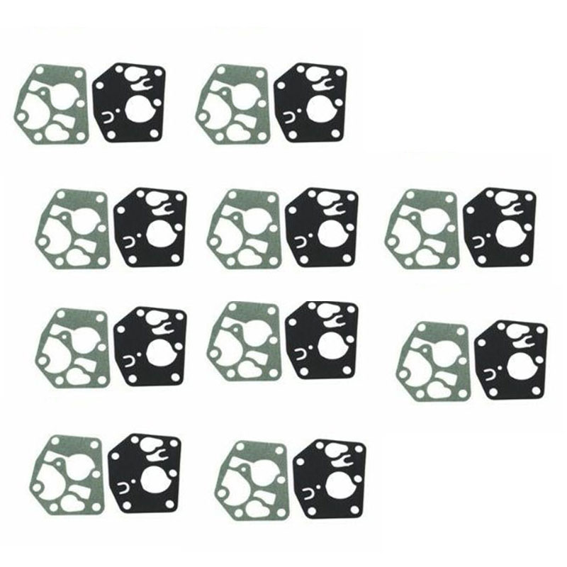 10sets Carburetor Diaphragm Gasket Kit Fit For Briggs & Stratton 495770 795083 5083H 5083K
