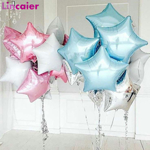 6pcs Star Foil Ballon Happy Birthday Decoration 1st First Birthday Baby Boy Girl Party My One Year Kids Adult Just Married Decor