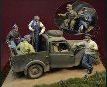 Guerrero antiguo sin montar, figura de resina en miniatura sin pintar, incluye 6 (sin coche ni mapa), 1/35