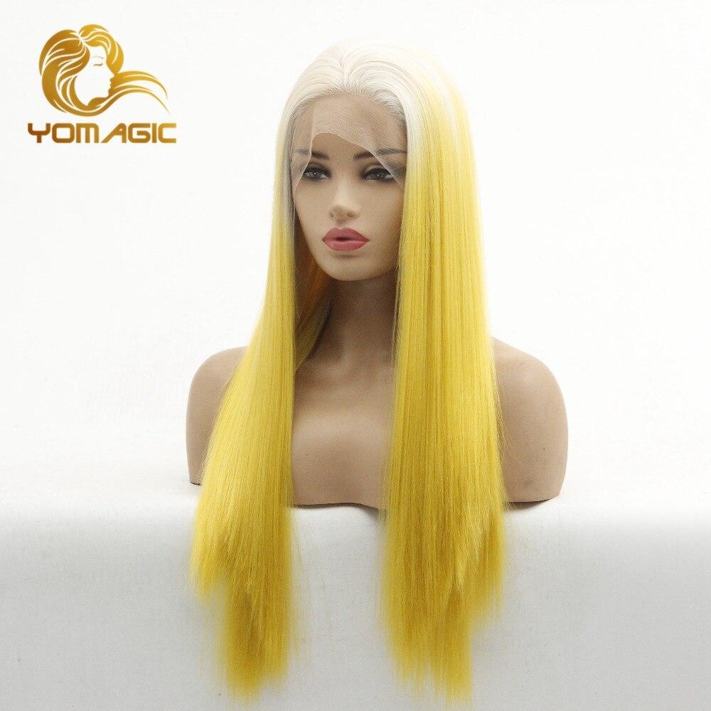 ombre cabelo amarelo branco sem cola laço