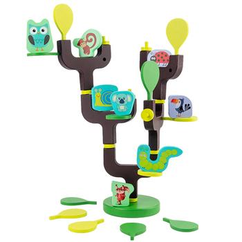 Drewniane balansowanie zabawka Montessori Tree Stacker drewniane bloczki zabawka dowiedz się podstawowa koordynacja matematyki zwierząt zagraj w zabawki dla dzieci prezent tanie i dobre opinie 2-4 lat 5-7 lat 8 ~ 13 Lat Zwierzęta i Natura Animals Sport Drewna CZS0610