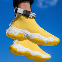 Men's Shoes Sneakers Men Breathable Air Mesh Sneakers Slip on Summer Non leather Casual Lightweight Sock Shoes Men Sneakers